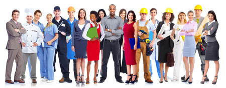 servicios publicos: Grupo de personas trabajadoras de negocios.