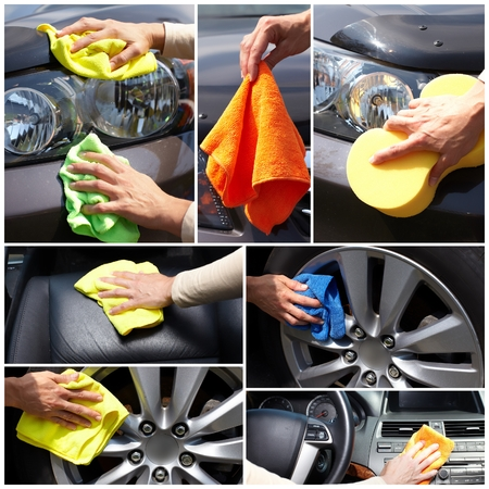 wash hands: Car polishing
