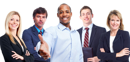 inviting: Business people team. Stock Photo