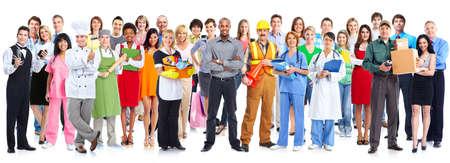 uniformes: Grupo de personas de los trabajadores.