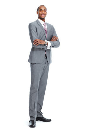 smiling businessman: African-American businessman Stock Photo