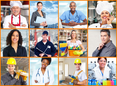 healthcare workers: Workers people collage.