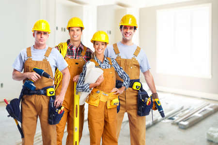 industry worker: Group of construction workers.