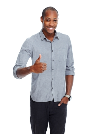 africanamerican: Happy young African-American man.