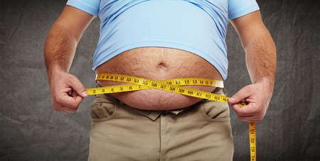 belly fat: Obesity.