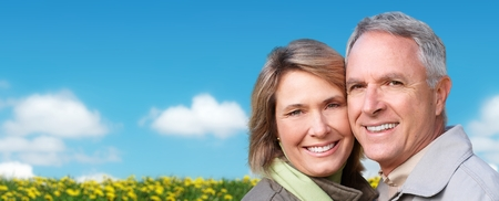 older couple: Happy senior couple. Stock Photo