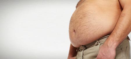 gordos: Grasa del vientre Foto de archivo