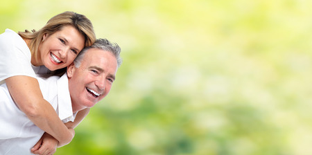 elderly couples: Happy senior couple. Stock Photo