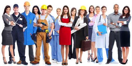 business diversity: Group of workers people.