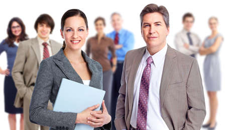 successful business woman: Business people team. Stock Photo