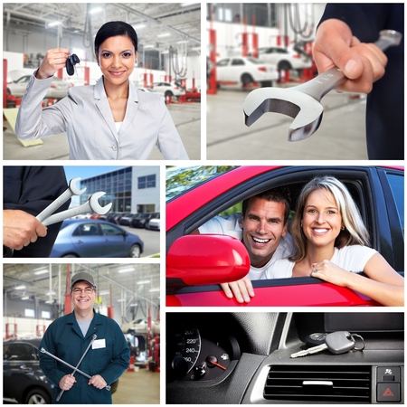 Car repair collage. photo