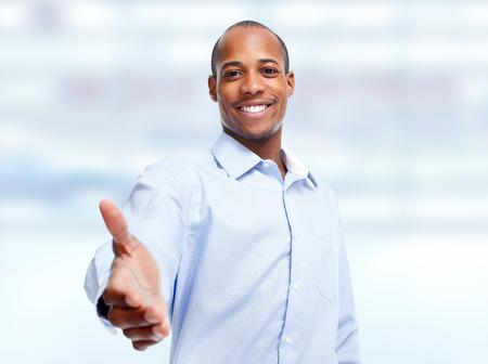 african american handshake: Handshake. Stock Photo