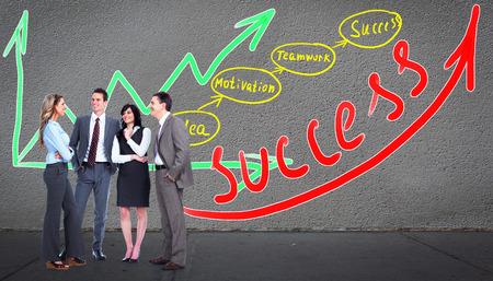 schemes: Business team near scheme background