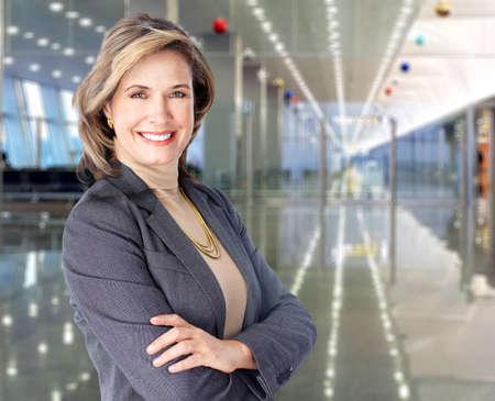 mature female: Mature business woman. Stock Photo