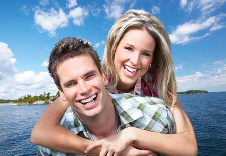 couple heureux: Couple heureux.