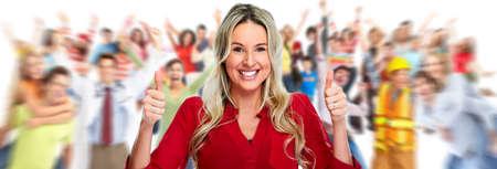 människor: Grupp av glada människor. Stockfoto