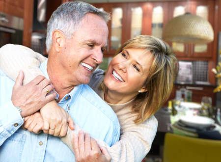 older age: Happy senior couple. Stock Photo