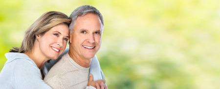 couple background: Happy senior couple. Stock Photo