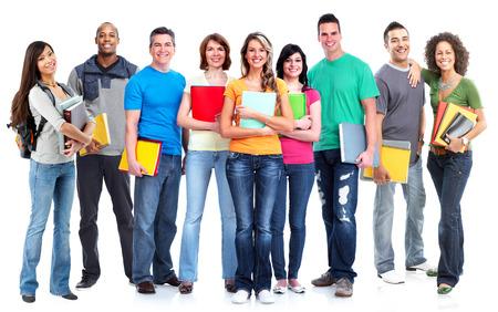adolescentes estudiando: Los estudiantes del grupo.
