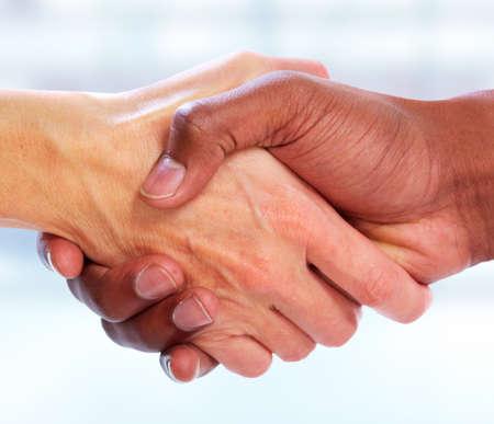 african american handshake: Business Handshake.
