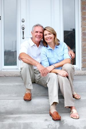 retirement  age: Senior couple at home.