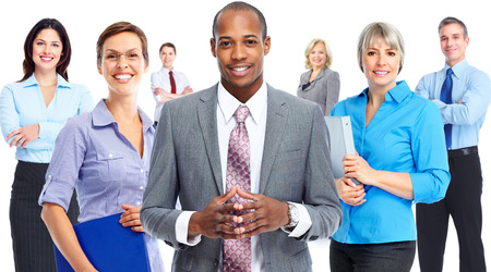 team leader: Business people team. Stock Photo