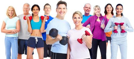 Grupa ludzi fitness.