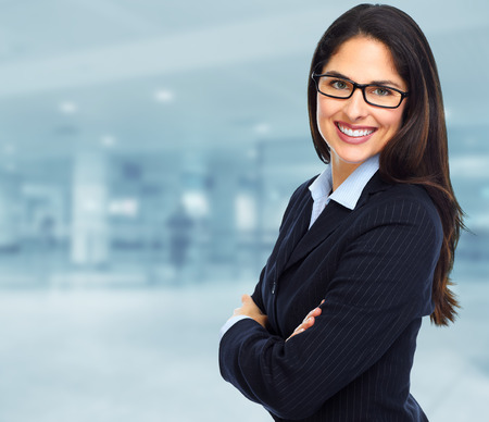 ejecutivo en oficina: Mujer de negocios. Foto de archivo