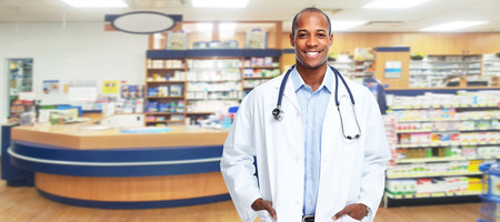 Medical pharmacist man. photo