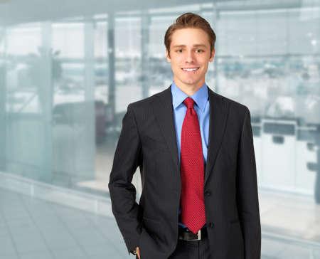 Jóképű üzletember portré