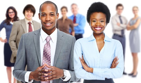 african lady: Business people team. Stock Photo