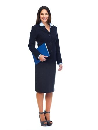 Молодая деловая женщина с папкой.