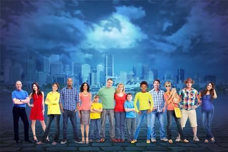 grupo de personas: Grupo de personas. Foto de archivo