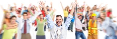 uomo felice: Gruppo di persone felici. Archivio Fotografico