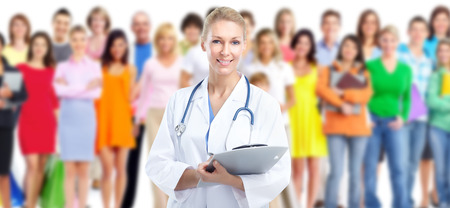 health professionals: Medical doctor. Stock Photo