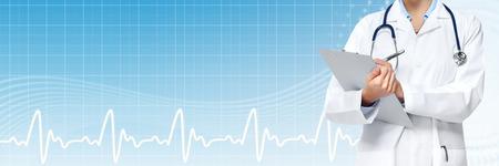 Médecins médicale mains médecin. Bannière Healthcare.