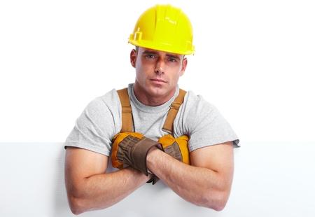 woodworker: Handyman worker. Stock Photo