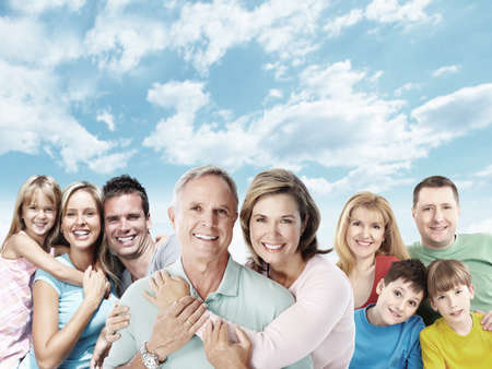 family love: Happy family.