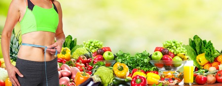 weight loss woman: Healthy diet.