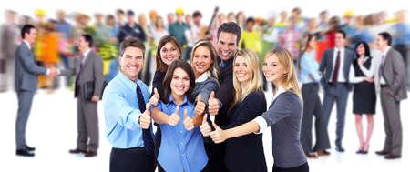 人: 快樂的商務人士群體。