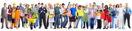 community service: Group of workers people.