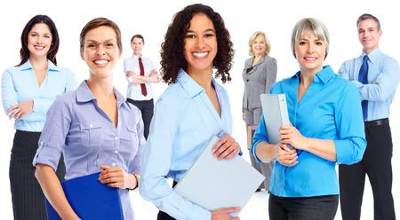 razas de personas: La gente de negocios del equipo.