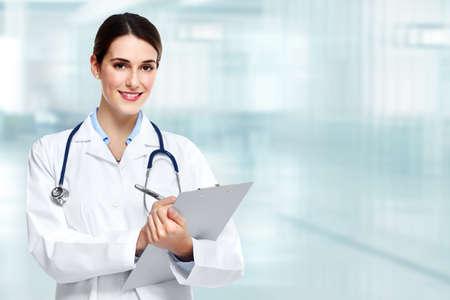 lekarza: Lekarz kobieta. Zdjęcie Seryjne