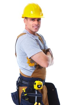 joiner: Handyman worker. Stock Photo