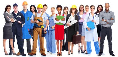 mannen en vrouwen: Groep werknemers mensen. Stockfoto