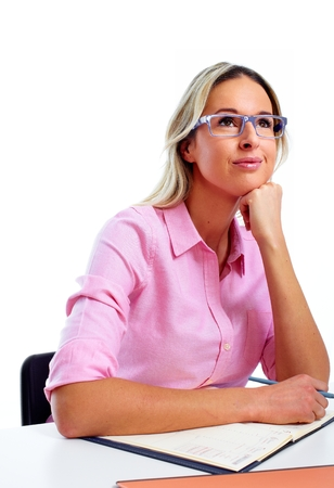 Woman working in office. photo