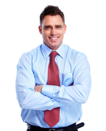 real man: Businessman. Stock Photo