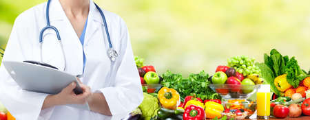dietitian: Diet and health care. Stock Photo