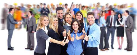 Glada företagare grupp. Stockfoto