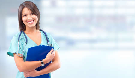 doctor care: Health care medical doctor woman. Stock Photo